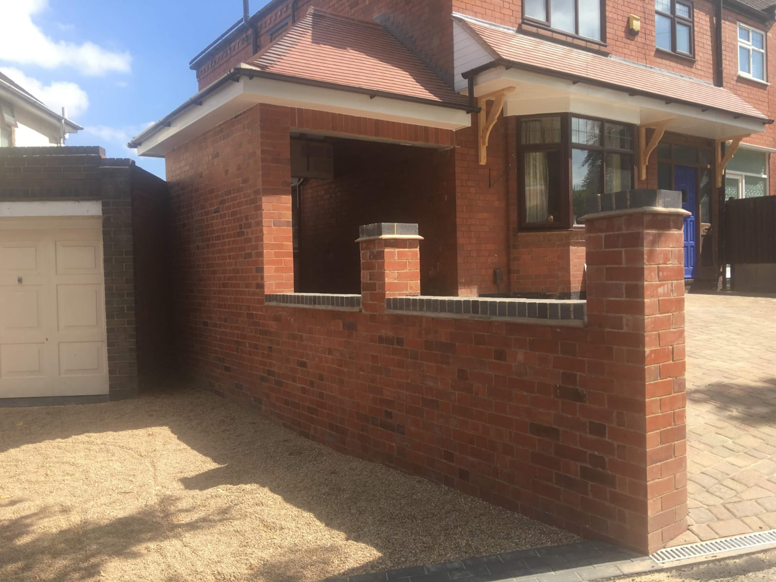 Garage, Retaining Wall, Canopy & Block Paved Drive in Nuneaton